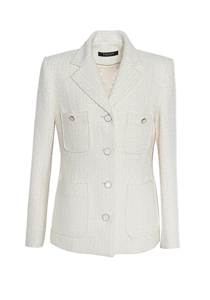 LITTLE TWEED JACKET IVORY/ BLACK
