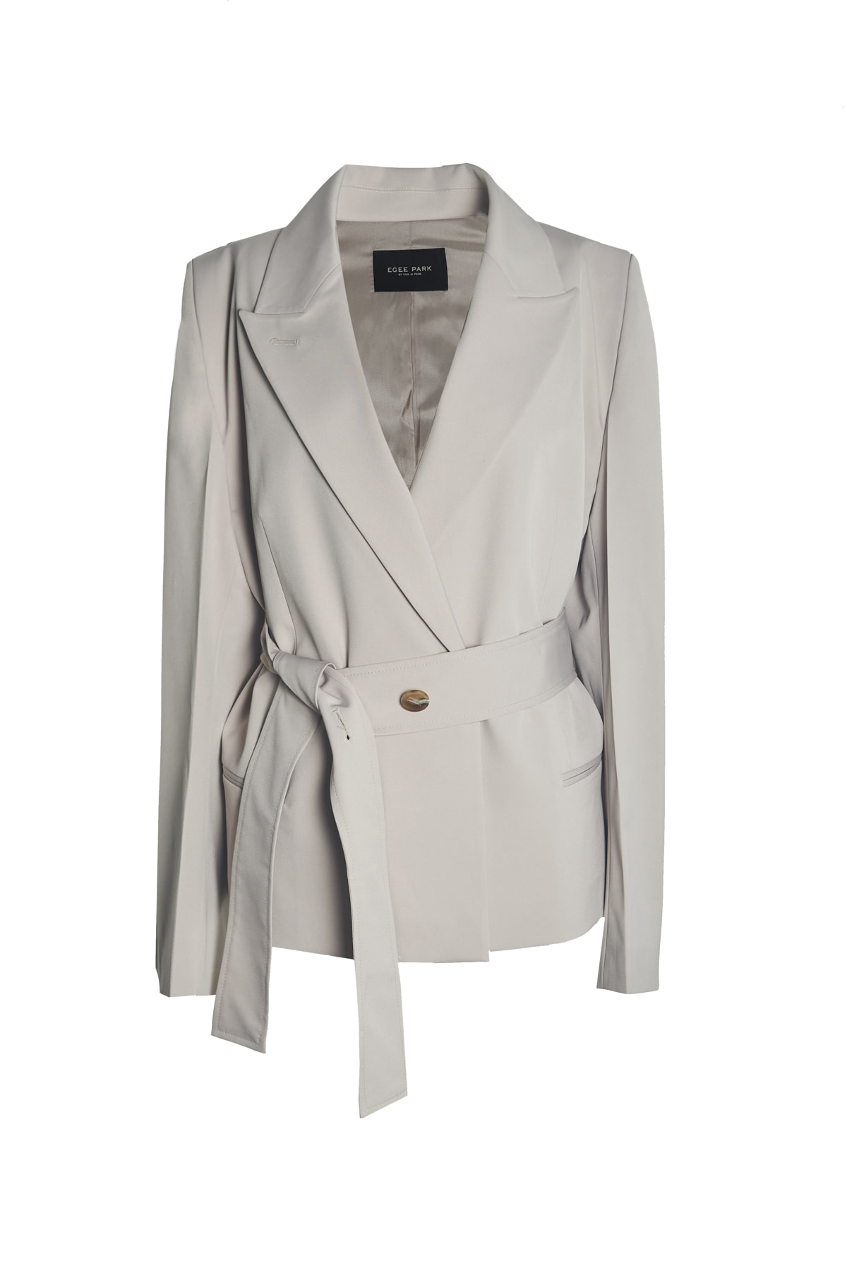 BELTED OPEN JACKET