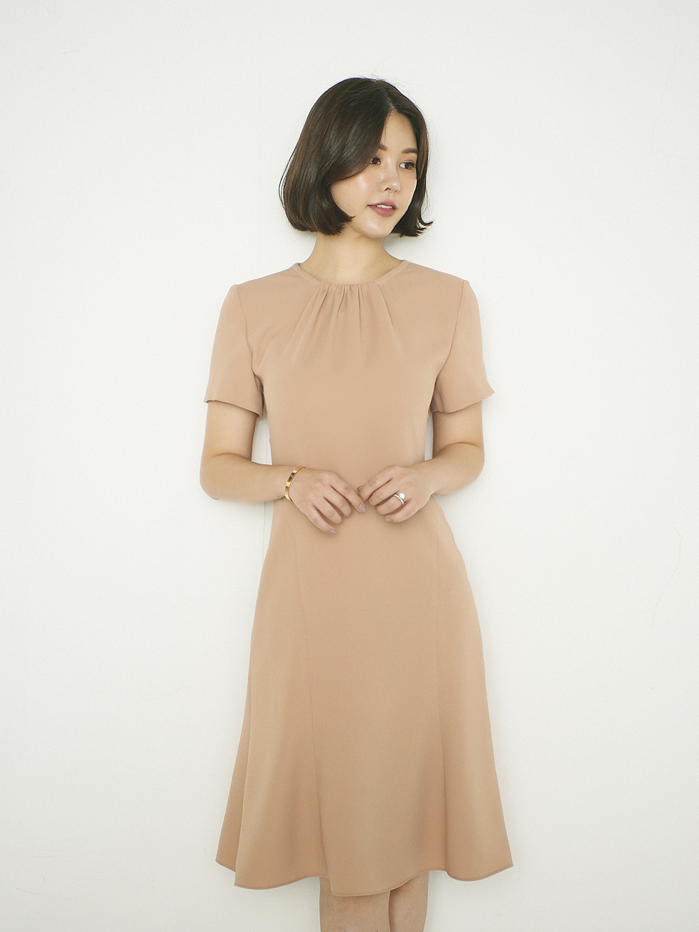 GRACE SHIRRING DRESS