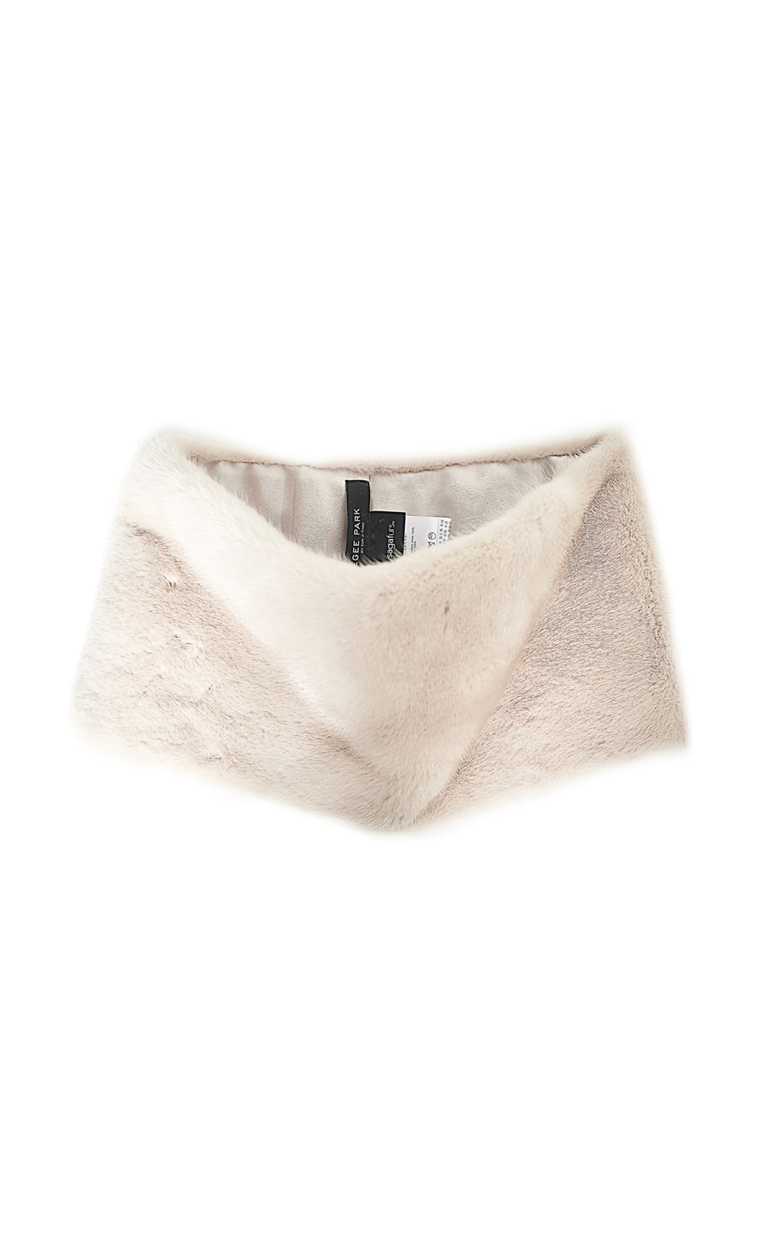 NATURAL MINK NECK WARMER