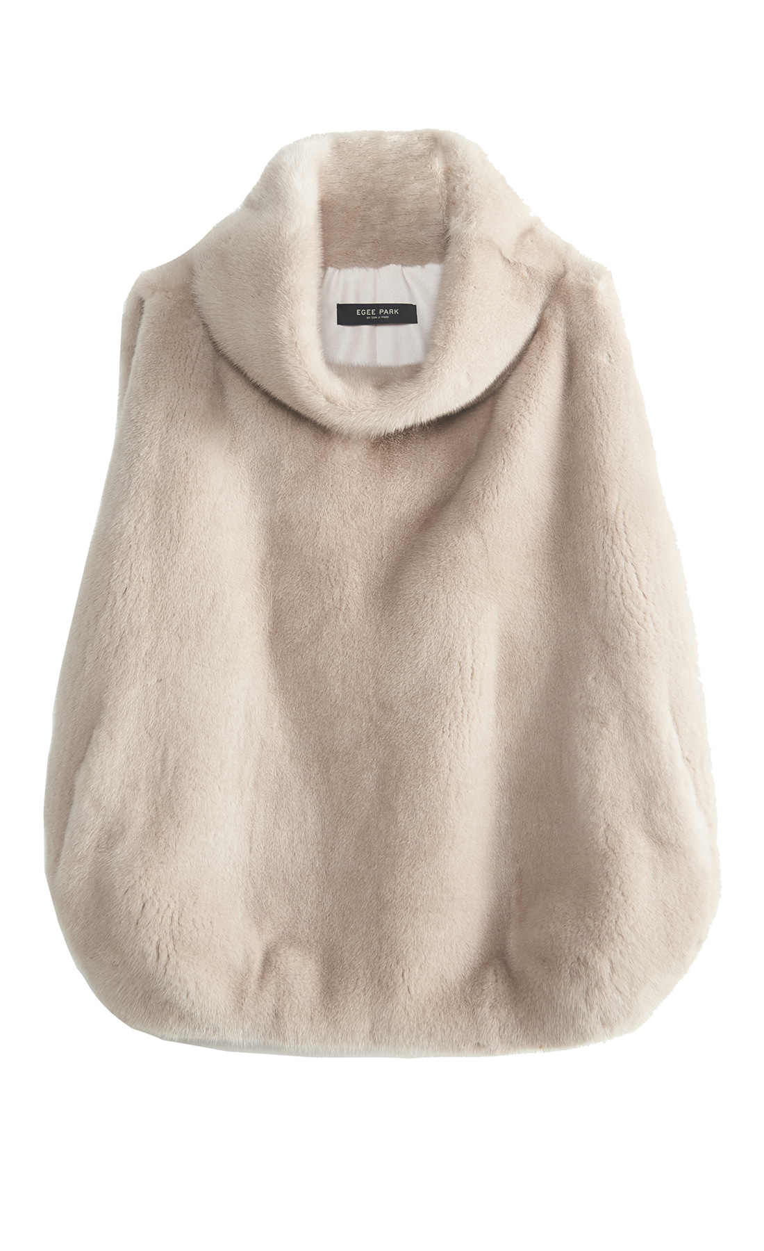 NATURAL MINK HIGH NECK FUR VEST