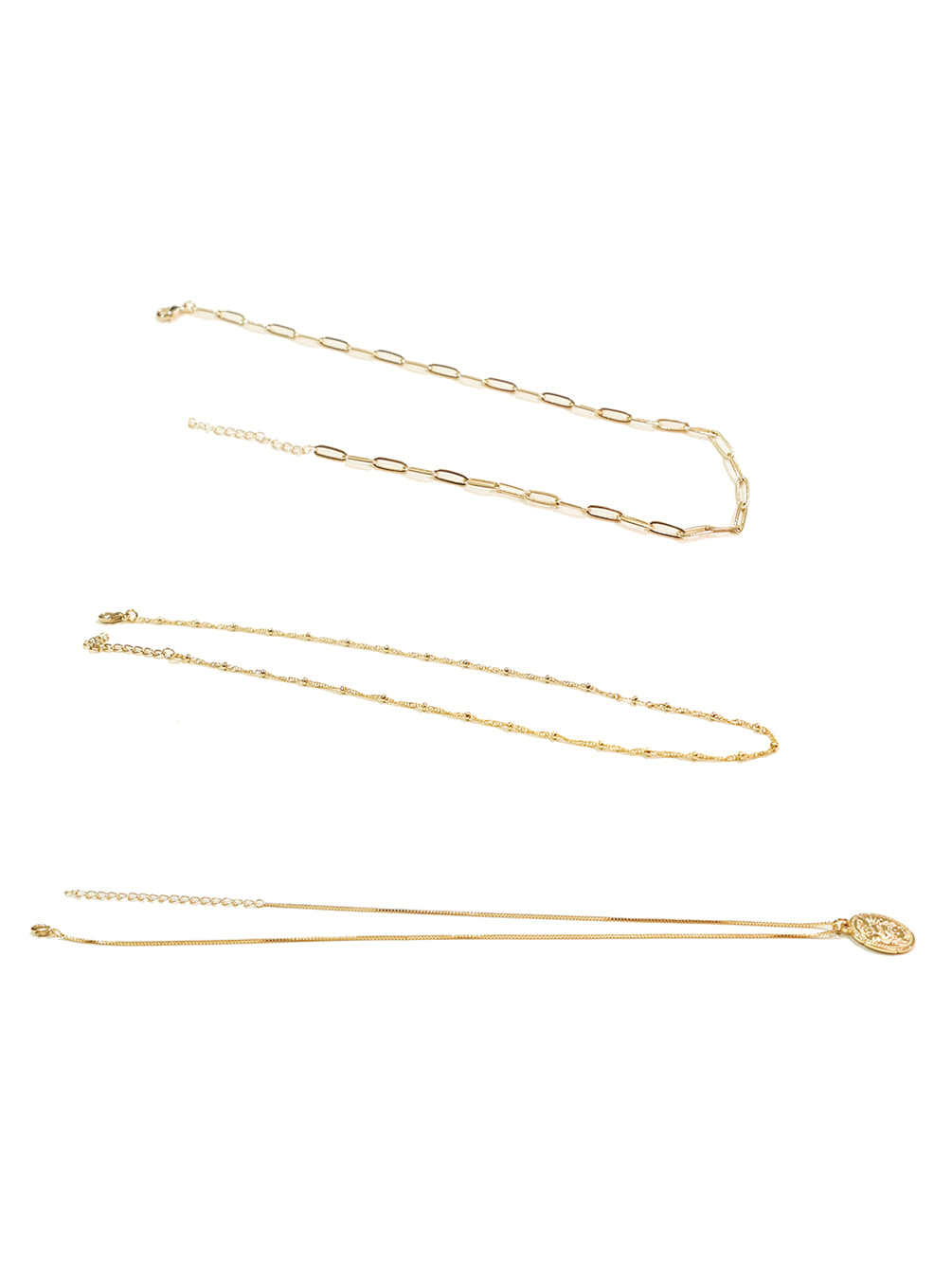 [바로배송]18K SIMPLE COIN NECKLACE