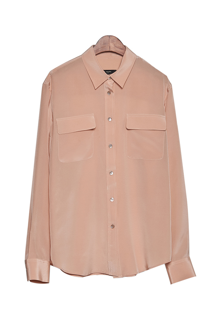 SILK POCKET BLOUSE (2colors)